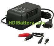 Cargador para baterías de plomo 6V y 12V corriente de carga 1,5Ah